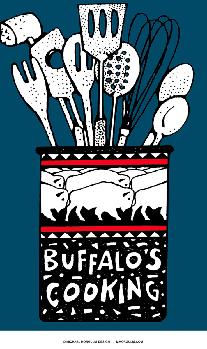 Buffalo's Cooking dusk blue (large view)