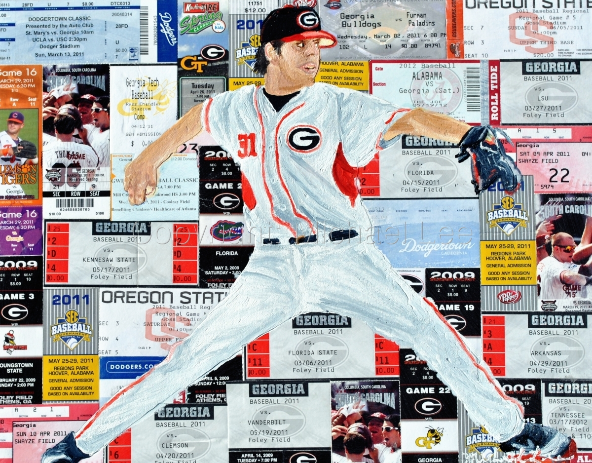 Commission work of UGA baseball player (large view)