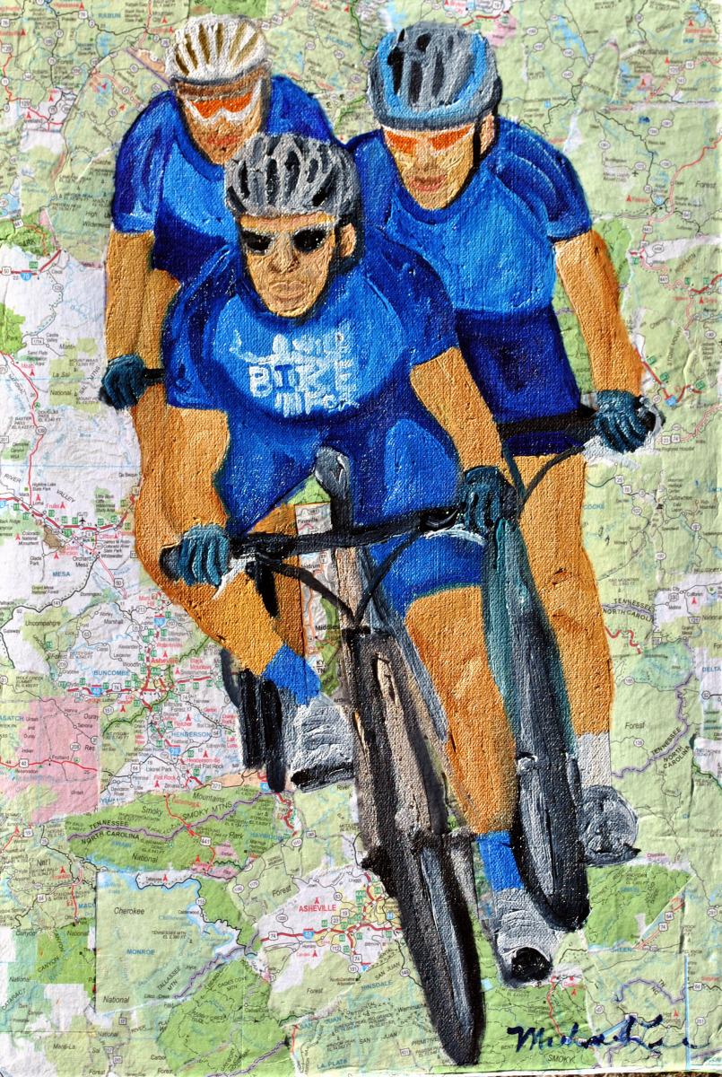 commission, bike racing, mountain biking,  (large view)