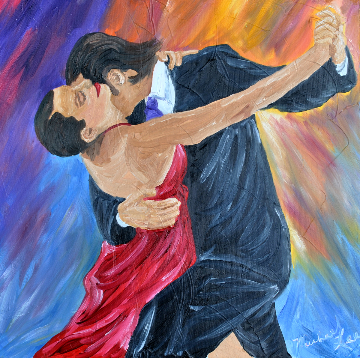 Painting Two To Tango Original Art By Michael Lee