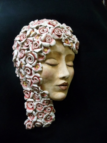 blossom woman by Michele Fisher Ceramics and Mixed Media