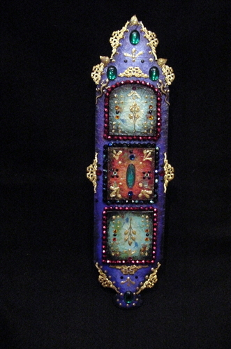 Wall Altar wall hanging by Michele Fisher Ceramics and Mixed Media