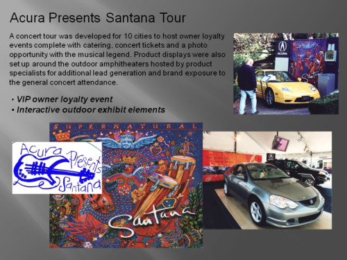 Acura Presents Santana Tour