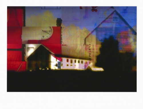 Digital Art-Photo Manipulation-Barns with Red