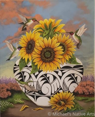 Hummingbird by Michael D. Tenorio Native Arts