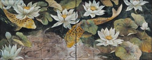 Koi Diptych by Minako Ota