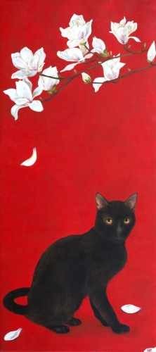 Black Cat and Magnolia