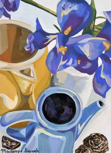 WATER PITCHER WITH FLOWERS