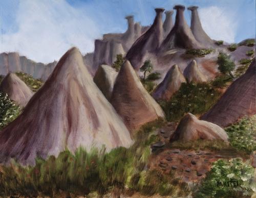 Tent Rocks Fantasy - Tent Rocks NM, New Mexico