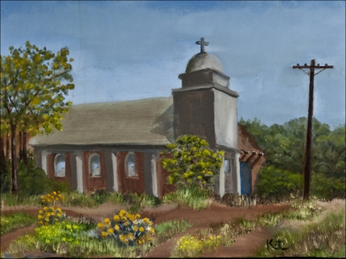 New Mexican Church at Lamy