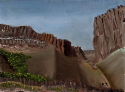 Nearing Canyon Diablo