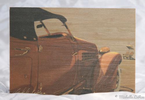 Auburn Arrival Print on Bamboo