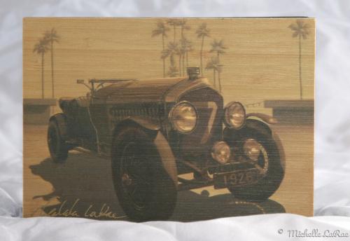 Bentley Flyer Print on Bamboo