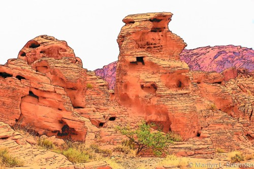 Rock Formation - Valley of Fire- Fantasy Finish