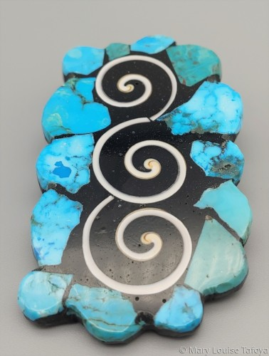 P007 Water Waves Pin/Pendant by Mary Louise Tafoya
