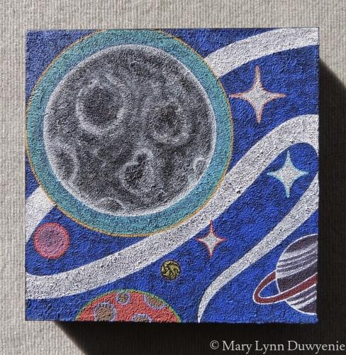 Super Moon with Planets by Mary Lynn Duwyenie