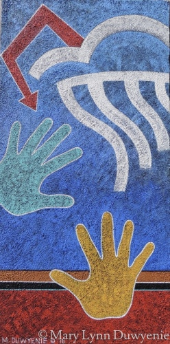 Artist's Hands with Cloud by Mary Lynn Duwyenie