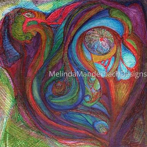 "Artwork titled ""Euphoria"" by Melinda Manderbach Designs"
