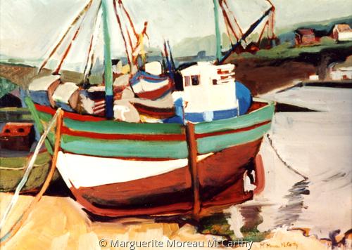 Breton Fishing Boat by Marguerite Moreau McCarthy