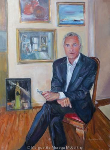 Portrait of Andre Moreau by Marguerite Moreau McCarthy