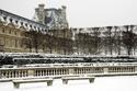 Louvre, Paris Neige