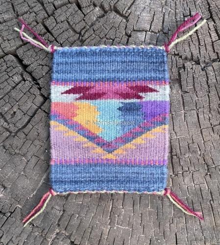 Miniature Rug by Morris Muskett Dine' (Navajo) Weaver & Jeweler
