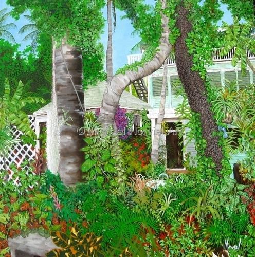 garden of Robert Frost cottage, Key West