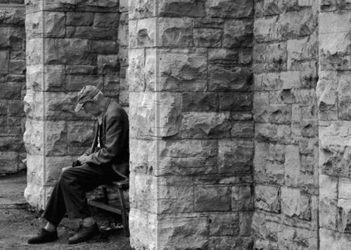 Man on bench