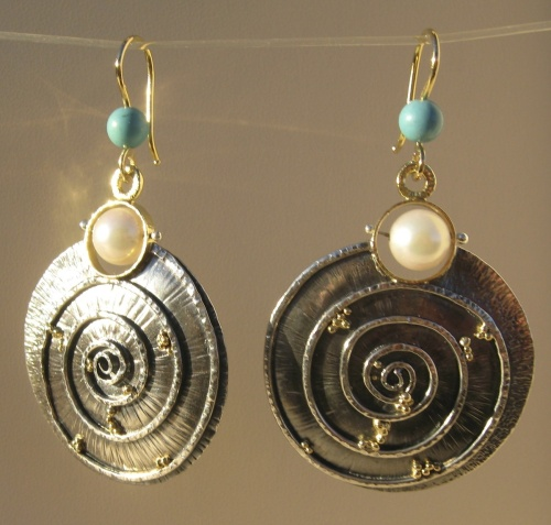 Earrings - Divine Spirals 1