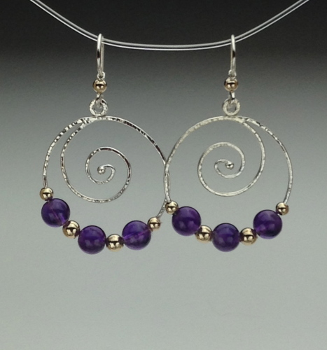 Earrings - Spiral Energy-8