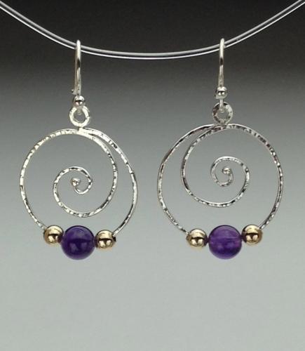 Earrings - Spiral Energy-7