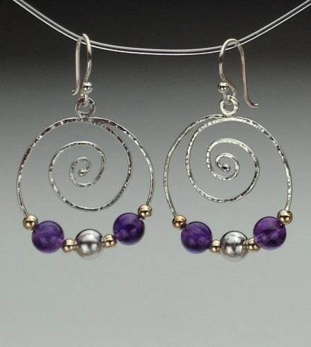 Earrings - Spiral Energy-6