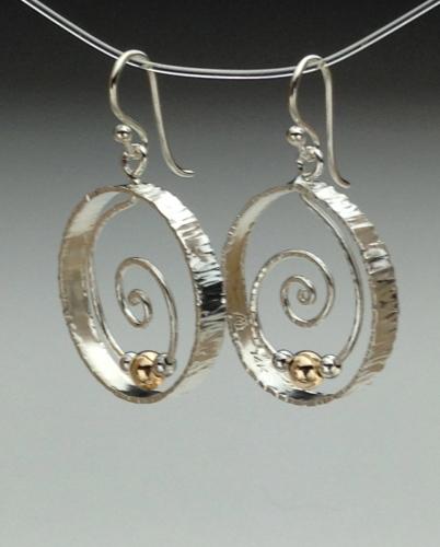 Earrings - Spiral Energy-1