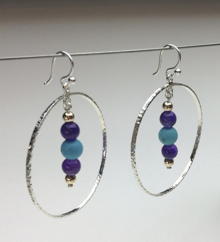 Earrings - Healing Gem Beads-23