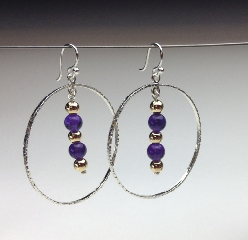 Earrings - Healing Gem Beads-24
