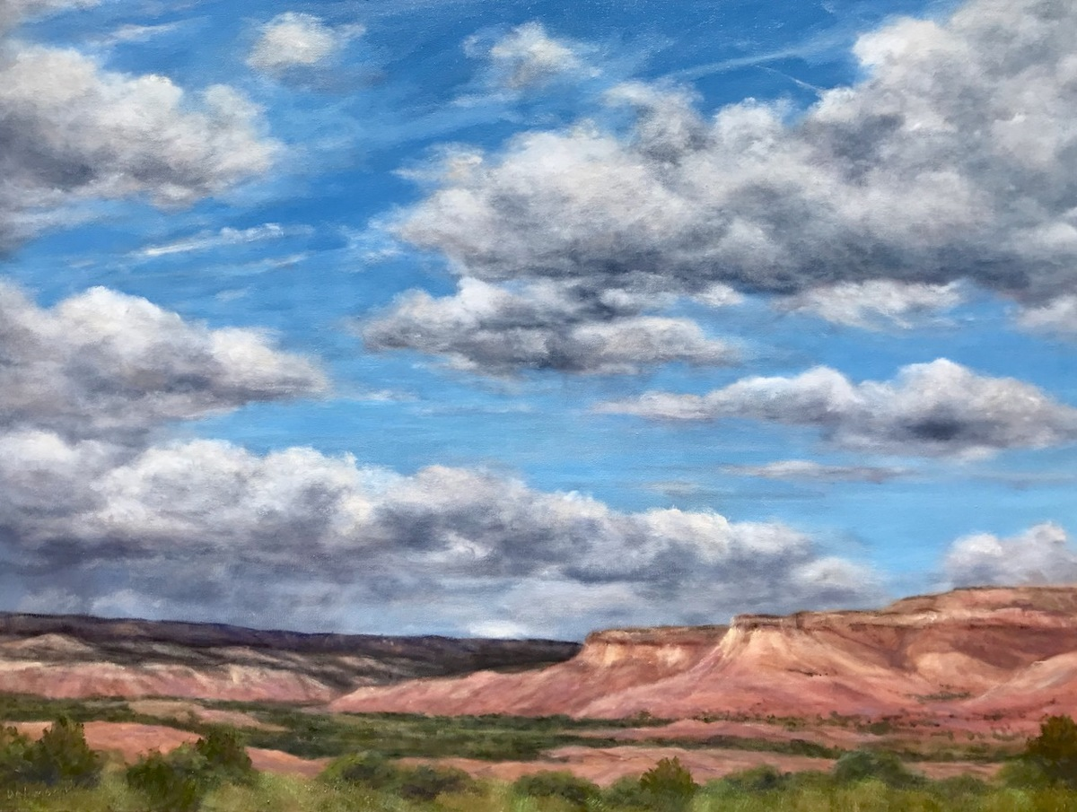 Spring Storm at Ghost Ranch, New Mexico (large view)