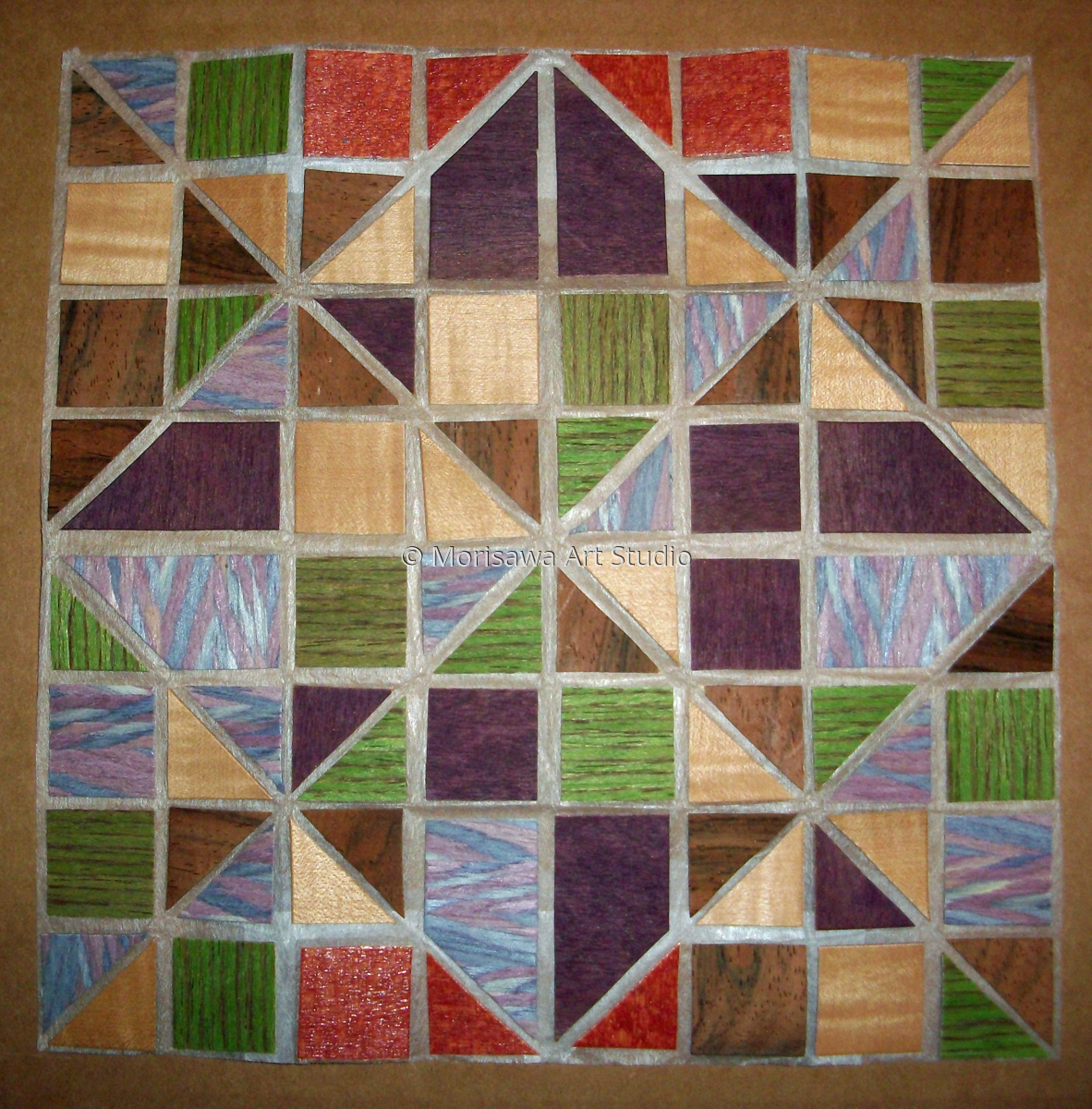 Origami-able Wood Mosaic (large view)