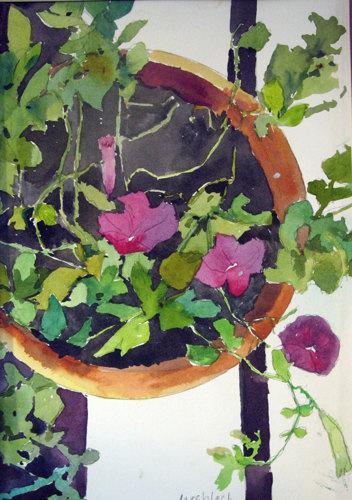 Purple Petunia Pot