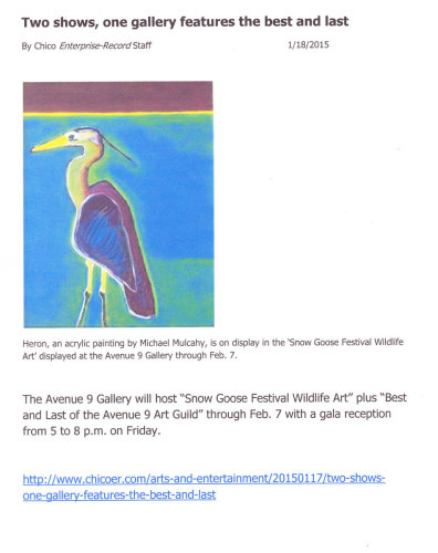 2015 Snowgoose Festival featured my heron