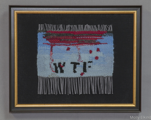 WTF by Molly Elkind Tapestry Weaver