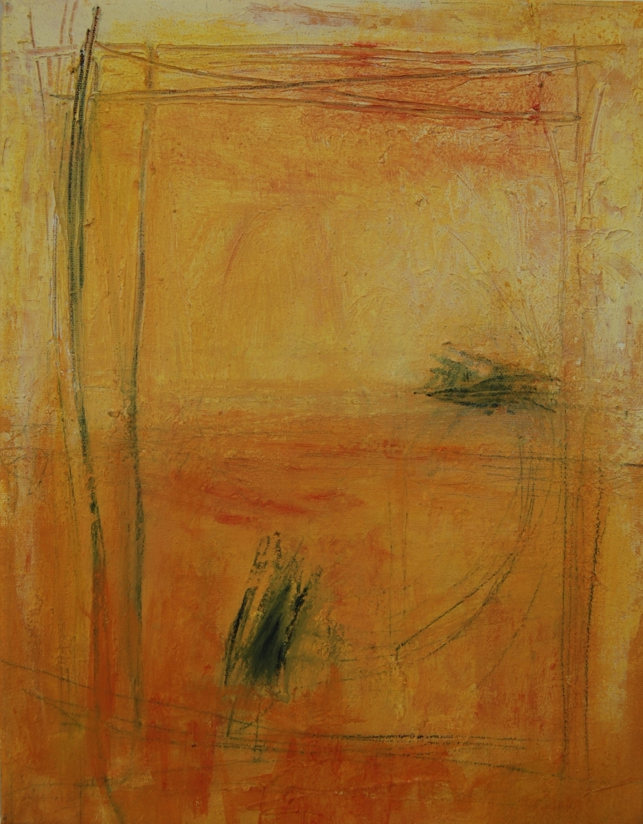 Small abstract painting by M. Pia D Girolamo, Philadelphia (large view)
