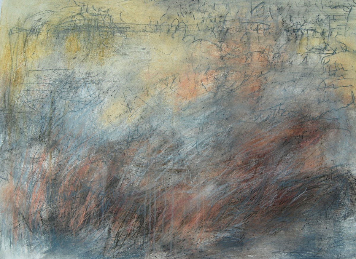 Mixed media work on paper by M. Pia De Girolamo (large view)