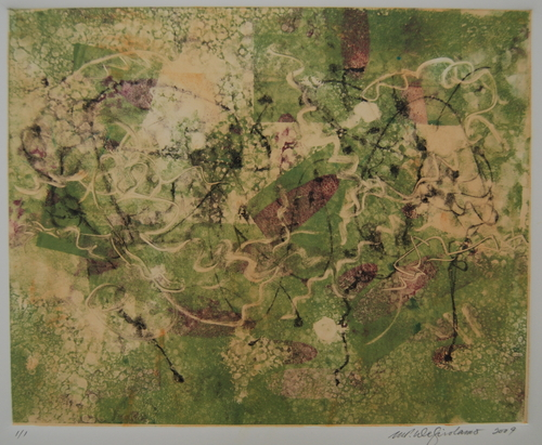 Vine monoprint by M. Pia De Girolamo (large view)