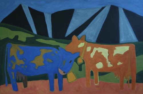 Mountains and Cows by M. Pia De Girolamo