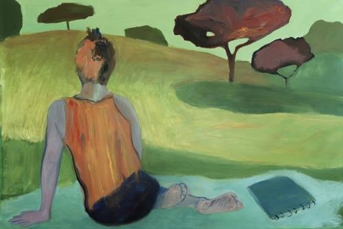 Artist in Villa Ada Park by Pia De Girolamo