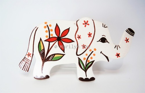 New Beginnings Elephant Ornament by Marilyn Ray
