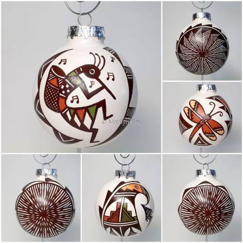 6 Piece Sphere Contemporary Ornament Set