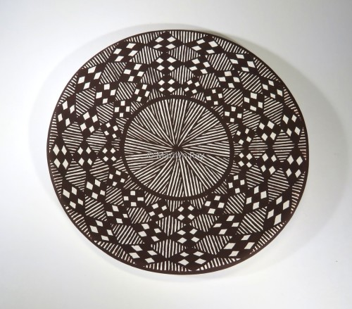 Plate with North Star in Center