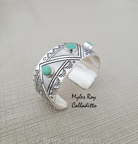 Turquoise Cuff by Myles Roy Calladitto