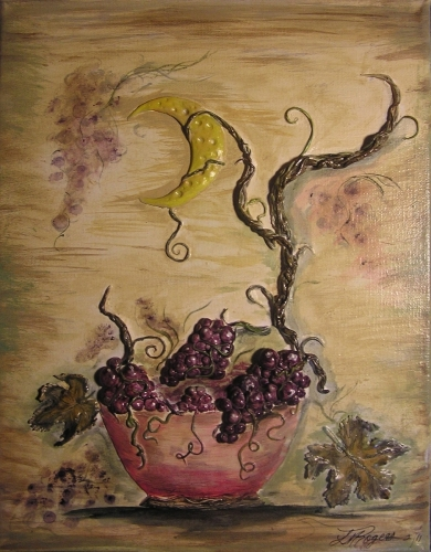 Grapes of Abundance (center panel)